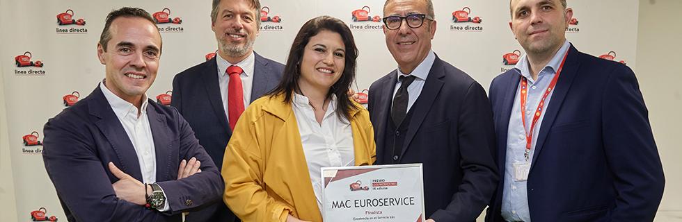 Mac Euroservice premio colaboradores Linea Directa categoría mejor proveedor