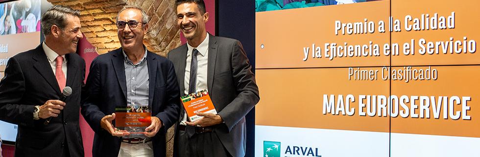 Mac Euroservice premio Mejor Taller Multimarca calidad excelencia ARVAL